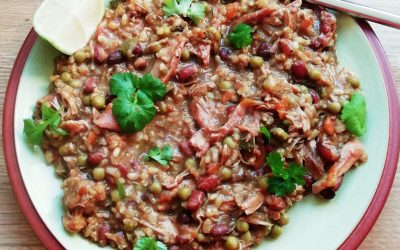 Slow cooked chicken rice & beans