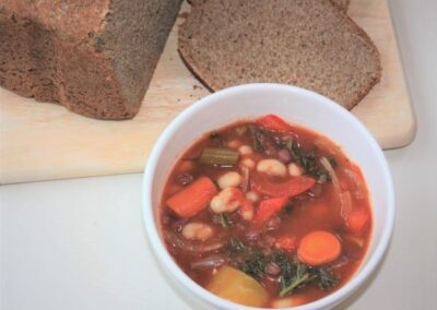 Chunky bean and tomato soup