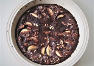 Chocolate Pear Clafoutis